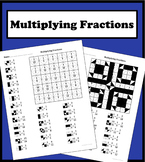 Multiplying Fractions Color Worksheet