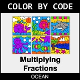 Multiplying Fractions - Color by Code / Coloring Pages - Ocean