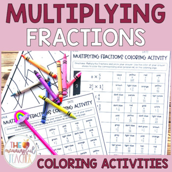 Multiplying Fractions Coloring Activity