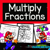 Multiplying Fractions Coloring Book Math