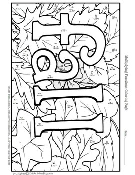 Multiplying Fractions Coloring Page
