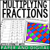 Multiplying Fractions Coloring Page Activity