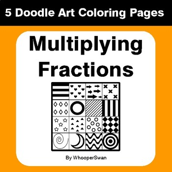 Multiplying Fractions - Coloring Pages | Doodle Art Math