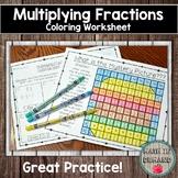 Multiplying Fractions Coloring Worksheet