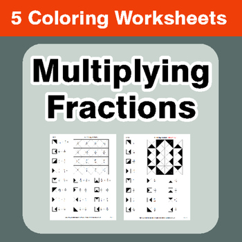 Multiplying Fractions - Coloring Worksheets