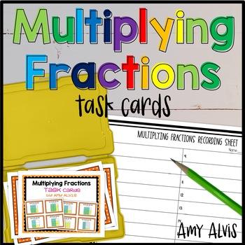 Fraction Task Cards - Multiplication