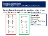 Multiplying Fractions Complete Lesson