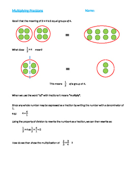 Multiplying Fractions (Conceptual Model)
