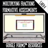 Multiplying Fractions Formative Assessments for Google For