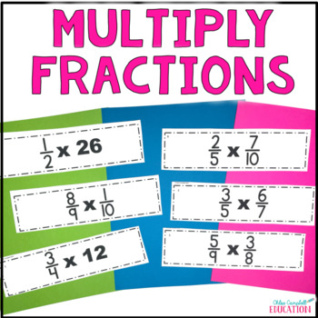 Multiplying Fractions Differentiated Activity - Around the Room