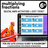 Multiplying Fractions Digital Math Activity