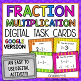 Multiplying Fractions Digital Task Cards Google Version