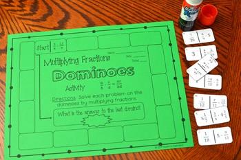 Multiplying Fractions Dominoes Activity