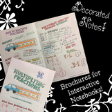 Multiplying Fractions - Decorated Notes Brochure for Interactive Notebooks