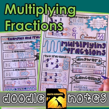 Multiplying Fractions Doodle Notes