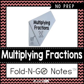Multiplying Fractions Fold-N-Go Notes™