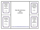 Multiplying Fractions Foldable