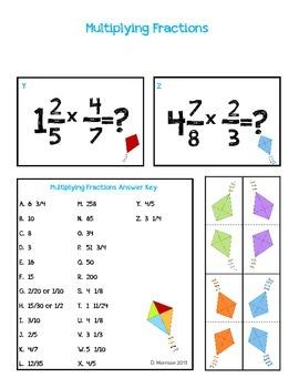Multiplying Fractions Folder Game/Center