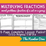Multiplying Fractions: Fraction of a Whole Word Problems, 5.NF.B.6 Packet + Quiz