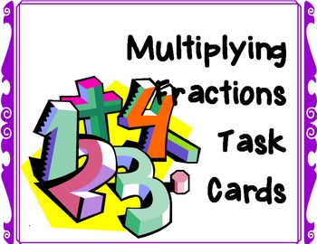 Multiplying Fractions / Fractional Parts Task Cards