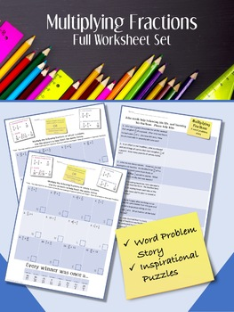 Multiplying Fractions:  Full Worksheet Set