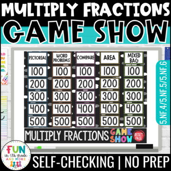 Multiplying Fractions Game Show PowerPoint Review Game | Test Prep