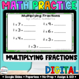 Multiplying Fractions [Google Compatible] | Distance Learning