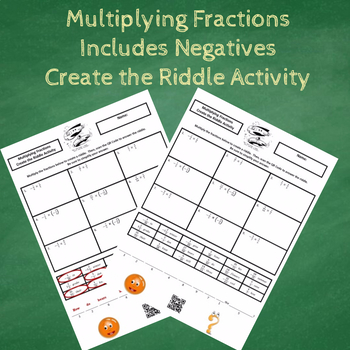 Multiplying Fractions (Includes Negatives) Create the Riddle Activity