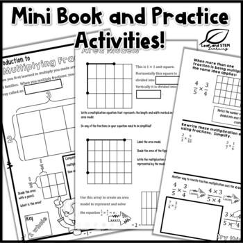 Multiplying Fractions Interactive Notebook Set