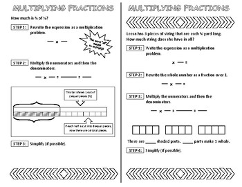 Multiplying Fractions Interactive Notebook