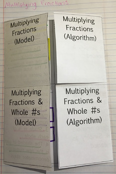 Multiplying Fractions Interactive Notebook Foldable
