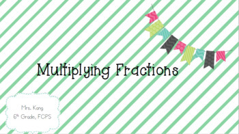 Multiplying Fractions Lesson