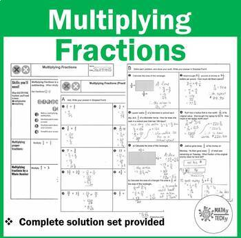 Multiplying Fractions Lesson and Practice