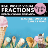 Multiplying Fractions Match Game & Scoot Task Cards Understanding Multiplication