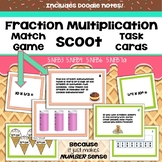 Multiplying Fractions Match Game & Scoot Task Cards Unders