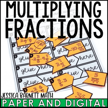 Multiplying Fractions Matching Activity