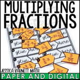 Multiplying Fractions Activity | Cut and Paste Matching | Distance Learning