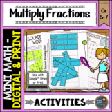 Multiplying Fractions Math Activities Puzzles and Riddle