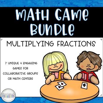 Multiplying Fractions Math Game Bundle