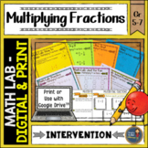 Multiplying Fractions Math Lab Intervention