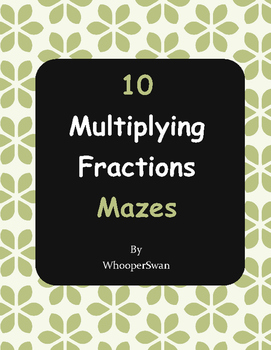 Multiplying Fractions Maze