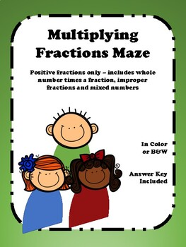 Multiplying Fractions - Maze