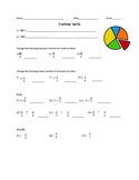 Multiplying Fractions, Mixed Numbers, Improper Fractions-TEST