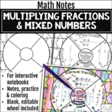 Multiplying Fractions & Mixed Numbers Math Wheel