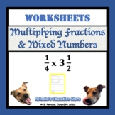 Multiplying Fractions & Mixed Numbers Practice Worksheets