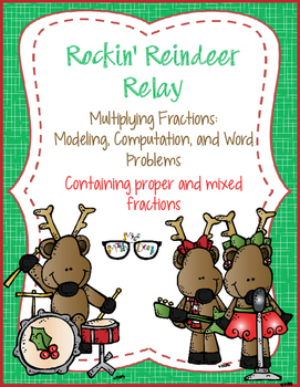 Multiplying Fractions Modeling, Computation, & Word Problems - Rockin' Relay