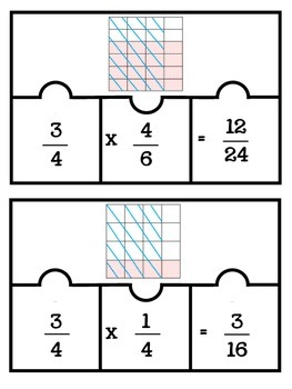 Multiplying Fractions Models