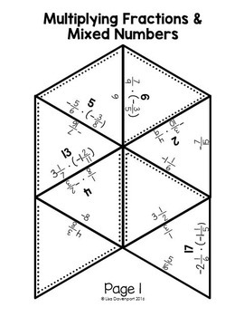 Multiplying Fractions (PUZZLE)