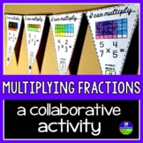 Multiplying Fractions Math Pennant Activity
