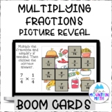Multiplying Fractions Picture Reveal Boom Cards--Digital T
